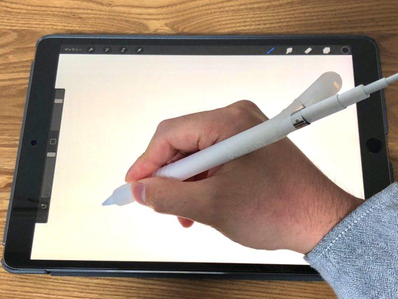 Apple Pencil充電しながら