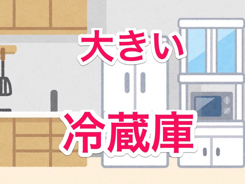 普通より大容量の冷蔵庫を買ったらメリットだらけだった!